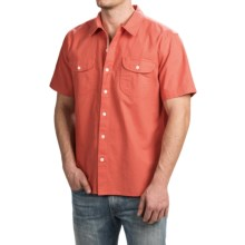 True Grit Brushed Cotton Solid Shirt - Short Sleeve (For Men) in Washed Red - Closeouts