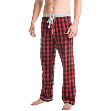 True Grit Buffalo Check Flannel Lounge Pants (For Men) in Red - Closeouts