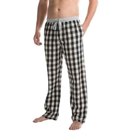 True Grit Buffalo Check Flannel Lounge Pants (For Men) in White - Closeouts