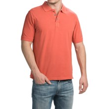 True Grit Buffalo Nickel Jersey Polo Shirt - Short Sleeve (For Men) in Washed Red - Closeouts
