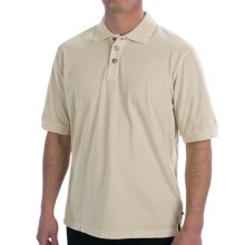 True Grit Buffalo Nickel Polo Shirt - Short Sleeve (For Men) in Chalk - Closeouts
