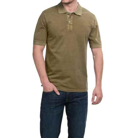 True Grit Buffalo Nickel Polo Shirt - Short Sleeve (For Men) in Moss - Closeouts