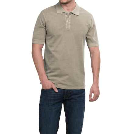 True Grit Buffalo Nickel Polo Shirt - Short Sleeve (For Men) in Pebble - Closeouts