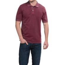 True Grit Buffalo Nickel Polo Shirt - Short Sleeve (For Men) in Port - Closeouts