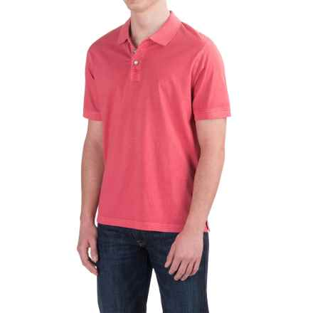 True Grit Buffalo Nickel Polo Shirt - Short Sleeve (For Men) in Vintage Red - Closeouts