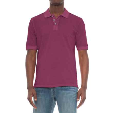 True Grit Buffalo-Nickel Polo Shirt - Short Sleeve (For Men) in Vintage Wine - Overstock