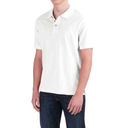 True Grit Buffalo Nickel Polo Shirt - Short Sleeve (For Men) in White - Closeouts
