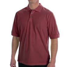 True Grit Buffalo Nickel Polo Shirt - Short Sleeve (For Men) in Wine Country - Closeouts