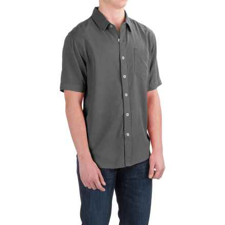 True Grit Cabo Shirt - Short Sleeve (For Men) in Vintage Black - Closeouts