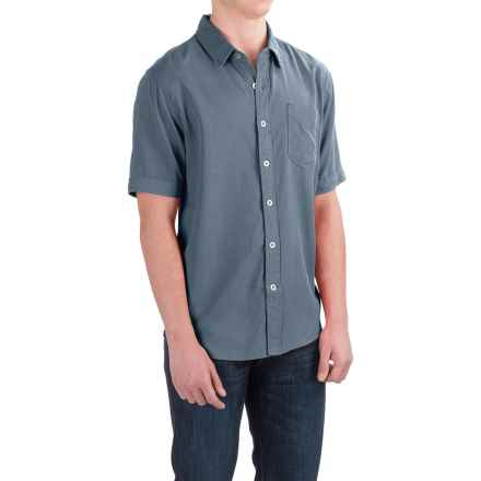 True Grit Cabo Shirt - Short Sleeve (For Men) in Vintage Indigo - Closeouts