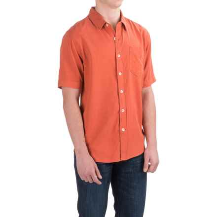 True Grit Cabo Shirt - Short Sleeve (For Men) in Washed Red - Closeouts