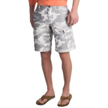 True Grit Camo Patrol Cargo Shorts - Ripstop Cotton (For Men) in Vintage Grey - Closeouts