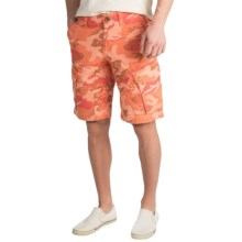 True Grit Camo Patrol Cargo Shorts - Ripstop Cotton (For Men) in Vintage Mango - Closeouts