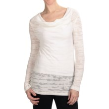 True Grit Camo T-Shirt - Cowl Neck, Long Sleeve (For Women) in White - Closeouts