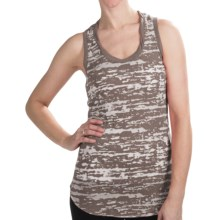 True Grit Camo Twisted Neck Tank Top (For Women) in Driftwood - Closeouts
