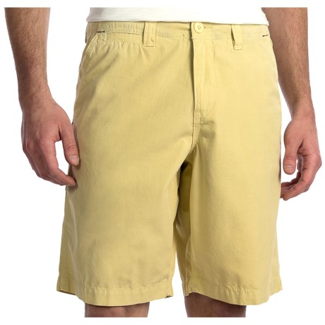 True Grit Canvas Chino Shorts - Stonewashed (For Men) in Butter