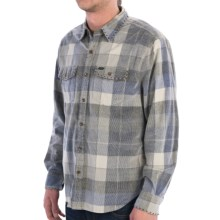 True Grit Canyon Cord Shirt - Long Sleeve (For Men) in Blue/Grey Plaid Bluewater - Closeouts