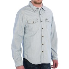 True Grit Canyon Cord Shirt - Long Sleeve (For Men) in Chambray Railroad Stripe - Closeouts