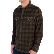 True Grit Canyon Cord Shirt - Long Sleeve (For Men) in Earth/Brown Check Dakota - Closeouts