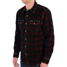 True Grit Canyon Cord Shirt - Long Sleeve (For Men) in Red/Black Check Aspen - Closeouts