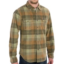 True Grit Canyon Cord Shirt - Long Sleeve (For Men) in Sun/Sage Plaid Sunset - Closeouts