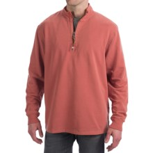 True Grit Cashmere Fleece Sweater - Cotton Blend, Zip Neck (For Men) in Faded Red - Closeouts