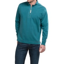 True Grit Cashmere Fleece Sweater - Cotton Blend, Zip Neck (For Men) in Ocean Sapphire - Closeouts
