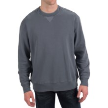 True Grit Cashmere Fleece Sweatshirt (For Men) in Vintage Denim - Closeouts