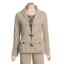 True Grit Cashmere Fleece Toggle Jacket - Butterfly Thermal Knit Lining (For Women) in Jungle - Closeouts