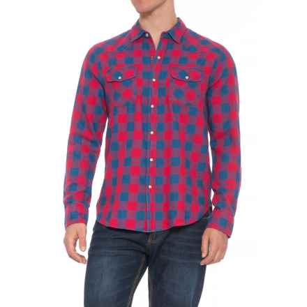 True Grit Check 2-Pocket Ranch Shirt - Snap Front, Long Sleeve (For Men) in Blue/Red - Overstock