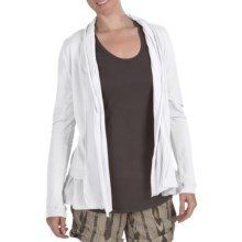 True Grit Cody Cotton Ruffle Open Jacket - Shawl Collar (For Women) in White - Closeouts