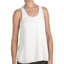 True Grit Cody Cotton Tank Top - Knit Lining (For Women) in White - Closeouts