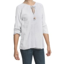 True Grit Cody Peasant Shirt - 3/4 Sleeve (For Women) in White - Closeouts