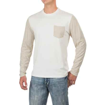True Grit Contrast T-Shirt - Long Sleeve (For Men) in Beige/Natural - Closeouts
