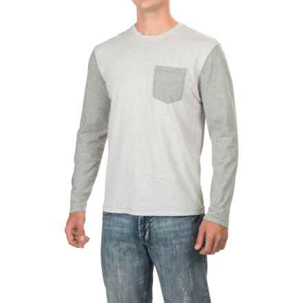 True Grit Contrast T-Shirt - Long Sleeve (For Men) in Heather Grey/Light Grey - Closeouts
