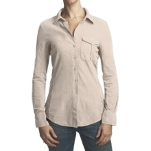 True Grit Corduroy Boyfriend Shirt - Long Sleeve (For Women) in Chalk - Closeouts