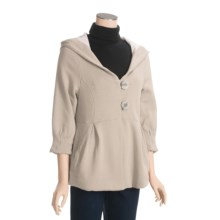 True Grit Cotton Jacket - Hooded, 3/4 Sleeve (For Women) in Oatmeal - Closeouts