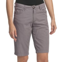True Grit Couture Cargo Jean Bermuda Shorts (For Women) in Grey - Closeouts