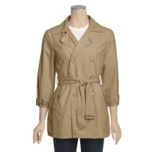 True Grit Couture Cargo Pea Coat (For Women) in Khaki - Closeouts