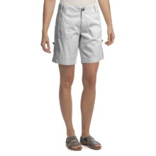 True Grit Couture Cargo Skylar Shorts (For Women) in White - Closeouts