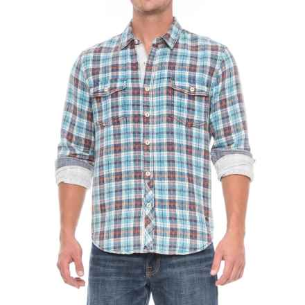 True Grit Croslin Check Shirt - Long Sleeve (For Men) in Blue/Aqua - Closeouts