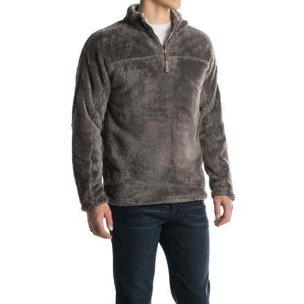 True Grit Double Plush Fleece Sweatshirt - Zip Neck (For Men) in Charcoal - Closeouts