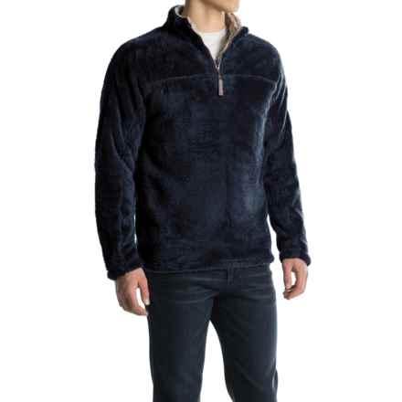 True Grit Double Plush Fleece Sweatshirt - Zip Neck (For Men) in Vintage Blue - Closeouts