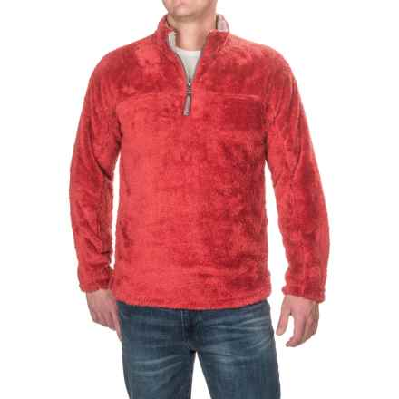 True Grit Double Plush Fleece Sweatshirt - Zip Neck (For Men) in Vintage Red - Closeouts