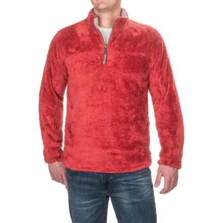 True Grit Double Plush Fleece Sweatshirt - Zip Neck (For Men) in Vintage Red - Closeouts