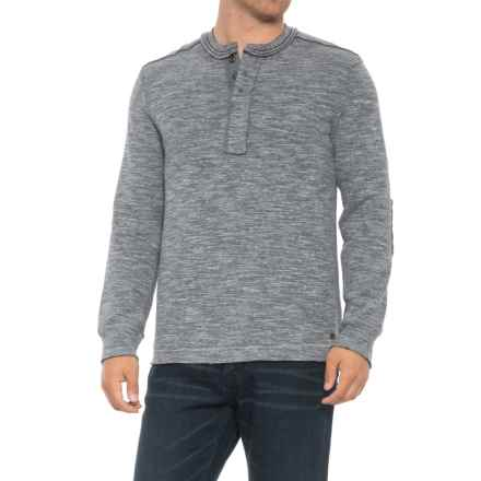 True Grit Double-Weave Snap Henley Shirt - Long Sleeve (For Men) in Heather - Overstock