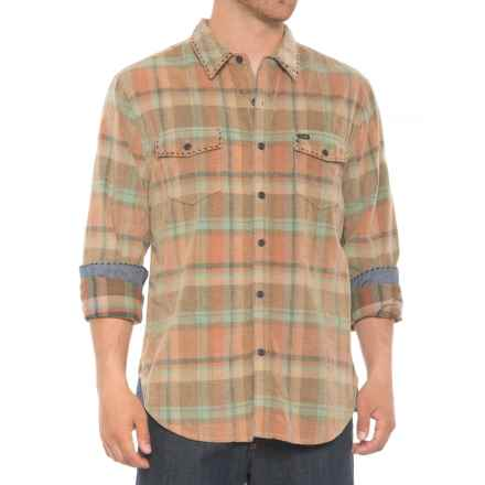 True Grit Drifter Vintage Plaid Corduroy Shirt - Long Sleeve (For Men) in Sage - Overstock