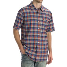 True Grit Dylan Check Shirt - Short Sleeve (For Men) in Blue - Closeouts