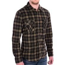 True Grit Field Fleece Shirt Jacket - Button Front, Long Sleeve (For Men) in Beige/Black - Closeouts