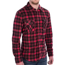 True Grit Field Fleece Shirt Jacket - Button Front, Long Sleeve (For Men) in Red/Black - Closeouts